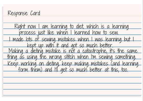 Response Card - Rachel