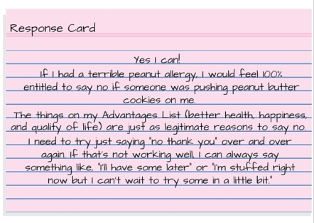 Response Card - I'm having a hard day so I deserve a treat. (1)