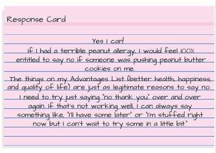 Response Card - I'm having a hard day so I deserve a treat. (1)